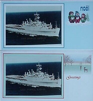 1985 Uss Ponce (Lpd-15) Christmas Cards (2