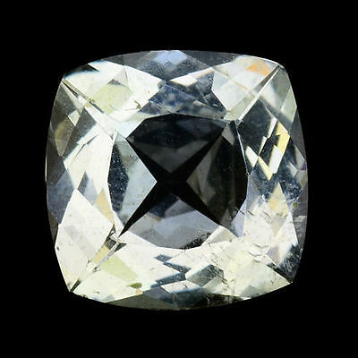 3.640Cts Glorious Stunning Luster White Natural Aquamarine Cushion Gemstones