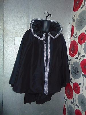 Quality Hand Crafted Black Unisex Cape One Size Fit