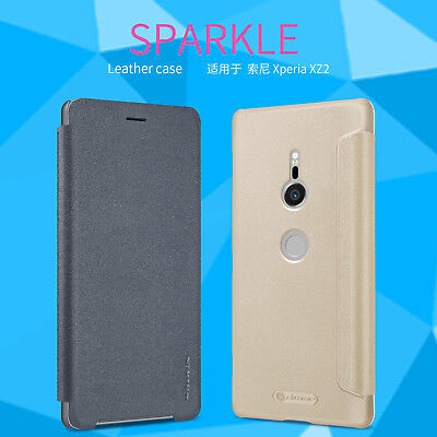 For Sony Xperia X Compact Nillkin Smart Fashion Slim PU Leather Flip Case Cover