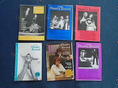 6 x issues London Theatre Record 1980s and 1990s  (cc)