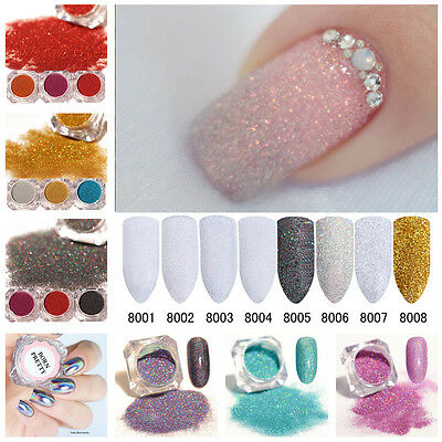Nail Glitter Powder Dust Holographic Laser Nail Art Chrome Pigment 3D Decoration