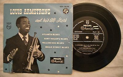 45 - EP LOUIS ARMSTRONG - ATLANTA BLUES - ANNI '50 Stampa italiana AA 429 128 BE