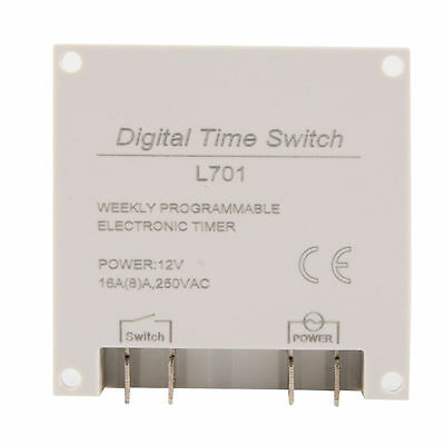 DC12V Digital LCD Display Programmable Time Counter Timer Switch Relay 16A TH281