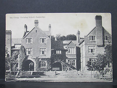 Very Old POSTCARD Posted 1906 Clergy Training School Cambridge. Boots No. 642