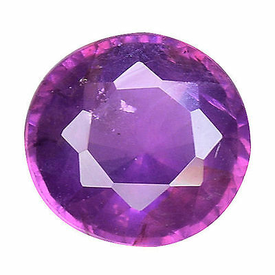 0.985 Cts Wonderful Luster Unheated Untreated Purple Pink Natural Sapphire Round