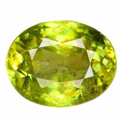 2.245Cts Beautiful Collection Luster  Green Natural  Sphene Oval Free Shipping