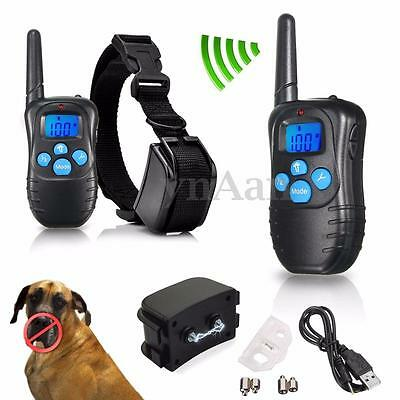 LCD Anti-Bark Stop Electric E-Collar Dog Training Remote Control Rechargeable