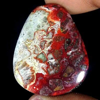 53.80cts.AA 100% NATURAL DESIGNER CRAZY LACE AGATE FANCY CABOCHON LOOSE GEMSTONE