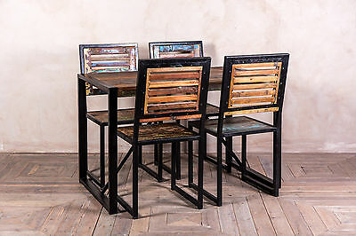 Reclaimed Wood Cafe Restaurant Bar Furniture Chairs And Tables 120X70Cm 70X70Cm