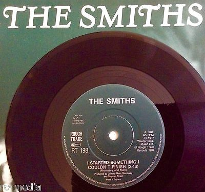 "THE SMITHS -I Started Something- Rare UK Solid Centre 7""  (Vinyl Record)"