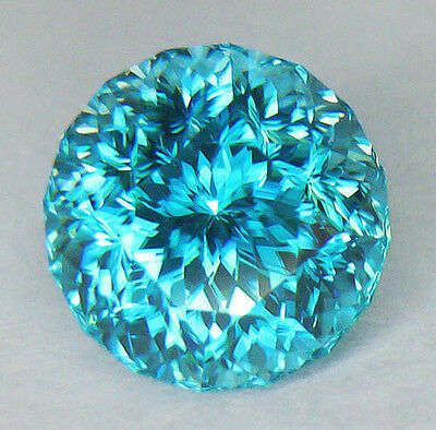 4.80Ct Flawless **certified Natural** Master Round Cut Aaa Electric Blue Zircon