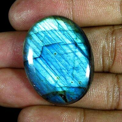 46.00 Cts. 100% Natural Chatoyant Flashy Labradorite Oval Cabochon Gemstones