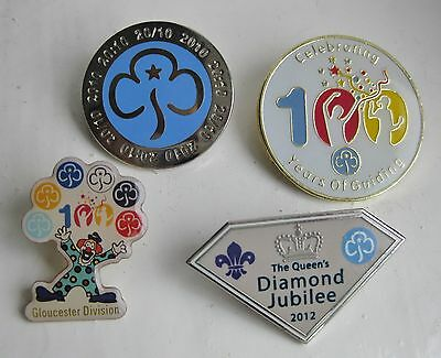collection of 4 metal guide badges -  2010 2012 Gloucester 100 years