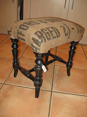 Lovely Hessian Sack Topped Stool/Seat - Vintage - Item for collection only SN25