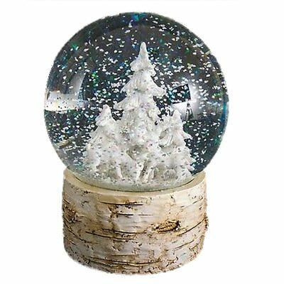 Heaven Sends Large Deer And Trees Water Ball Snow Globe
