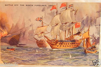 1915 Antique Postcard - Battle Of The North Foreland 1653 - Gale & Polden