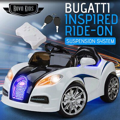 ROVO Kids Ride On Electric Car Bugatti Style Battery Children Sports Toys Remote