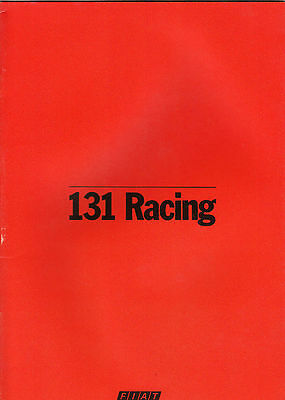 Fiat 131 Racing Brochure, French Text, Dated 2/79 .