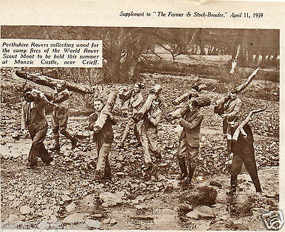 World Rover Scout Moot, Perthshire, Monzie Castle, Vintage 1939 Magazine Cutting