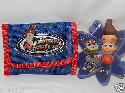 New With Tags  Jimmy Neutron Wallet Blue And Red Nickolodean