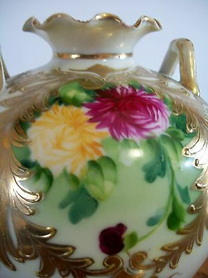 Nippon two handled Round bodied Vase