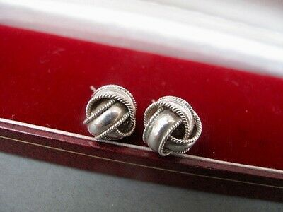 Womens Vintage 925 STERLING SILVER Ball Earrings Jewellery Christmas Gift Circle