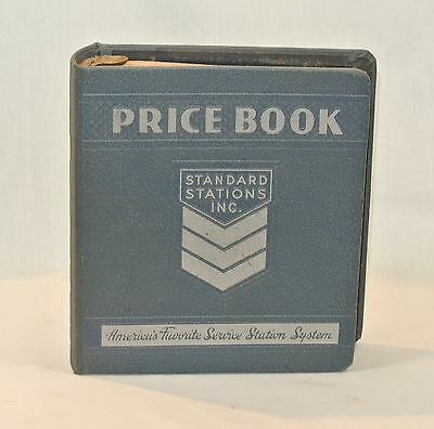 1949 Vintage STANDARD STATIONS Oil Gas PRICE BOOK Service Station Auto Repair