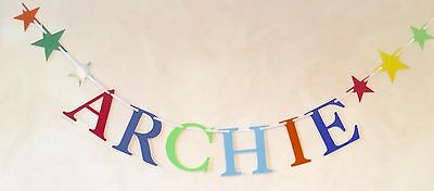 Boys Personalised Birthday Party Banner Bunting Decoration (Any Single Name)