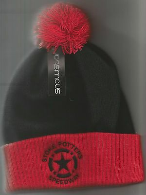 2016 Stoke Potters Bobble Hat With Logo ( Brand New With Tag Still On )