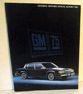 General Motors Annual Report 1983 Brochure Automobile Car Business Chevy Buick