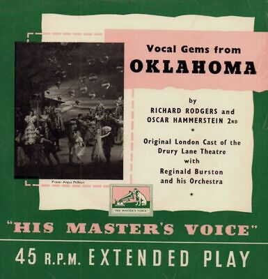"Original London Cast(7"" Vinyl P/S)Oklahoma-VG+/VG"