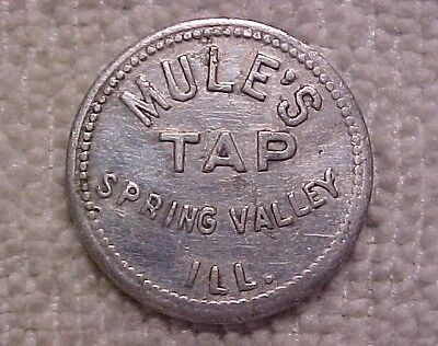 Mule's Tap 5 Cent Trade Token - Spring Valley, Illinois