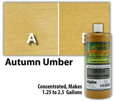 Professional Easy to Apply Water Based Concrete Stain - Autumn Umber