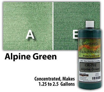Professional Easy to Apply Water Based Concrete Stain - Alpine Green