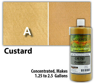 Professional Easy to Apply Water Based Concrete Stain - Custard