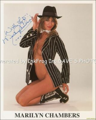 SEXY RP Signed Marilyn Chambers Color 8X10 RP Photo  w/coa