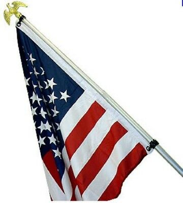 USA 6' Flag Pole Kit USA American Polyester Flag with Grommets Included