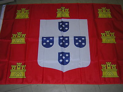 100% NEW Royal Standard of  Peter IV of Portugal Empire Flag Ensign, 3ftX5ft,