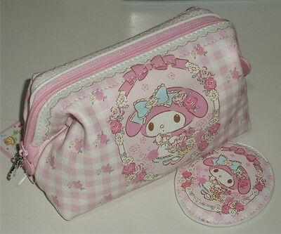 My Melody Cosmetic bag Multipurpose Pouch case with pocket mirror