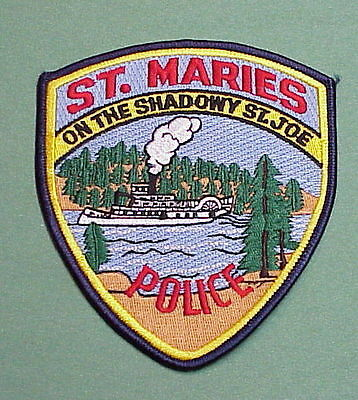 """St. Maries  Idaho  """" On The Shadowy St. Joe """"   Police Patch  Free Shipping!!!"""
