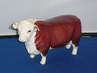Beswick Hereford Bull CH of Champions RARE First Version Figurine
