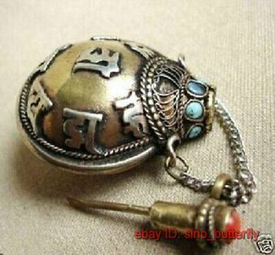 Asian Tibet collectibles brass old Snuff Bottle