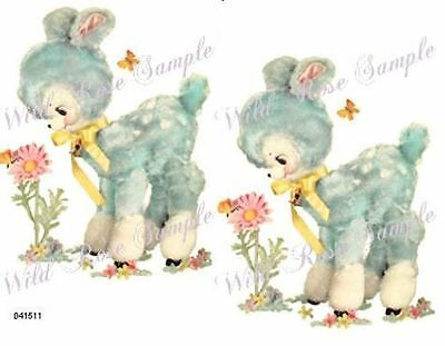 NeW! MeYeRCoRD RePrO ToY BLuE LamBs SHaBbY WaTerSLiDe DeCALs