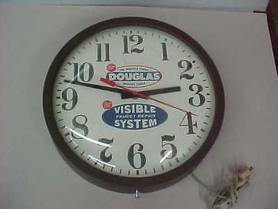 Vintage Douglas Quality Tools Solder Seal Advertising Clock