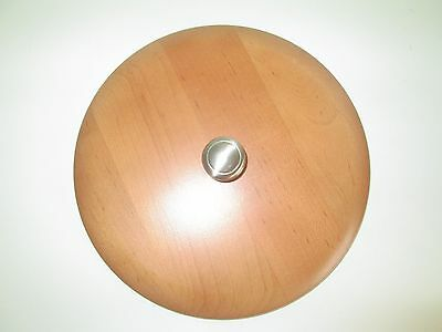 "Longaberger 9"" Round Woodcrafts Lid with Brushed Metal Knob"