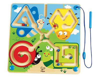 E1709 HAPE Best Bugs Magnetic Maze Wooden Puzzle [Totally Amazing] Children 2yr+