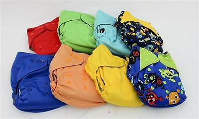 LOT OF 8 Eco Able Bamboo One Size Reusable Baby Cloth Pocket Nappie Diapers