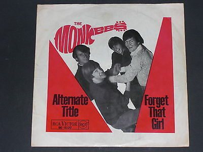 7-Single-Beat-THE MONKEES-Forget that girl