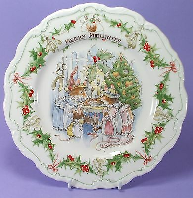 "Royal Doulton Brambly Hedge ""merry Midwinter"" Plate"